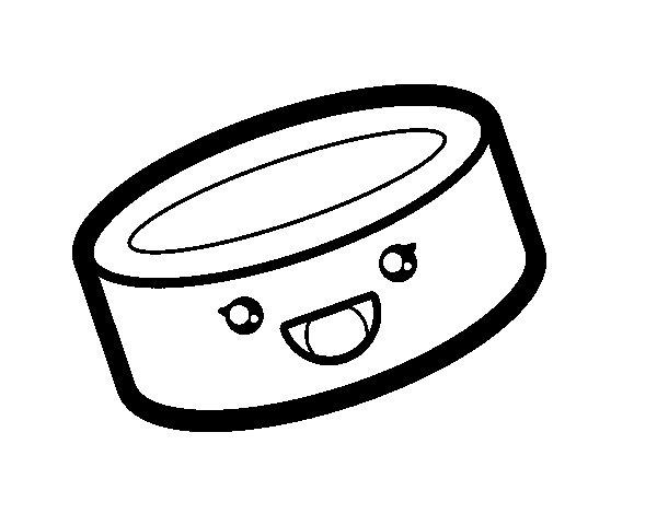 Dibujo de Lata de comida para Colorear