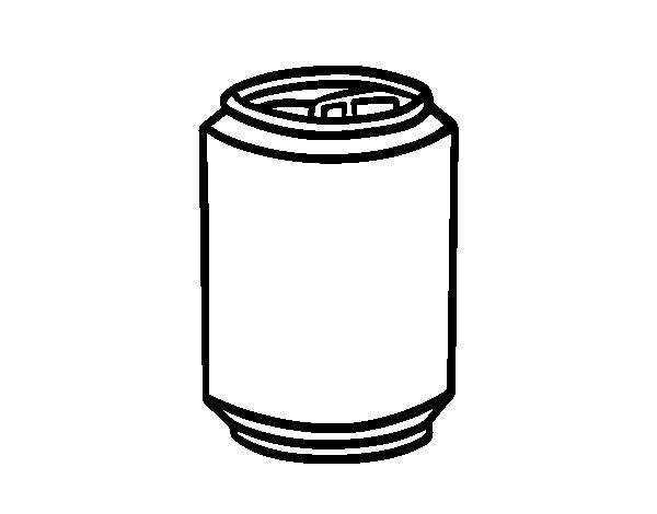 Dibujo de Lata de refresco para Colorear
