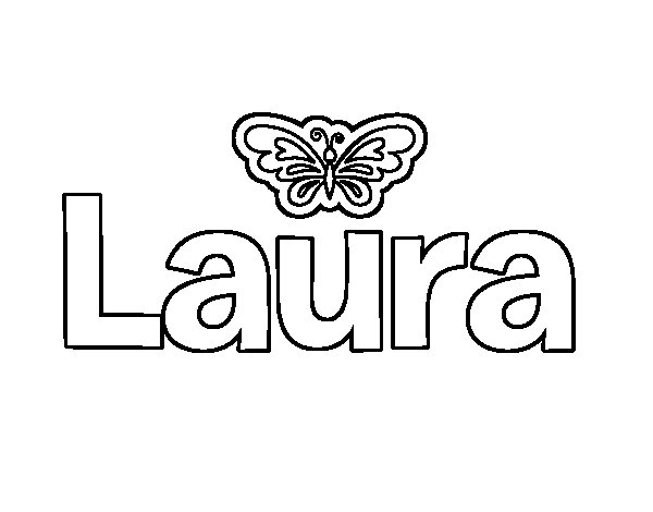 Dibujo De Laura Para Colorear