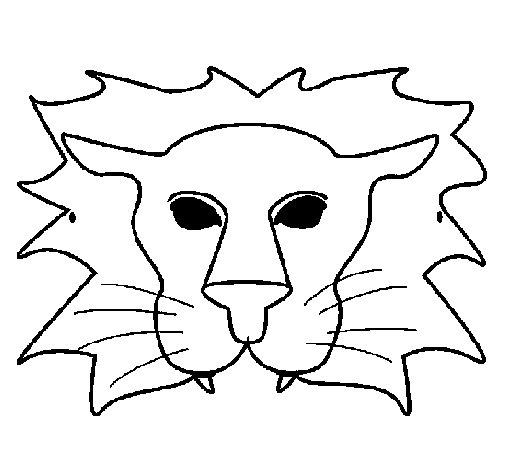 Dibujo de León para Colorear