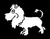 Dibujo de León de perfil para colorear