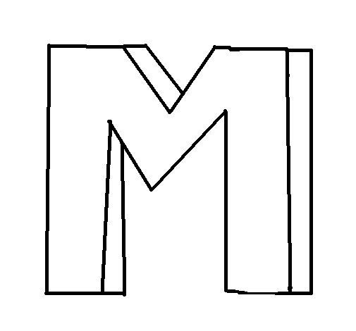 Dibujo de Letra eme para Colorear