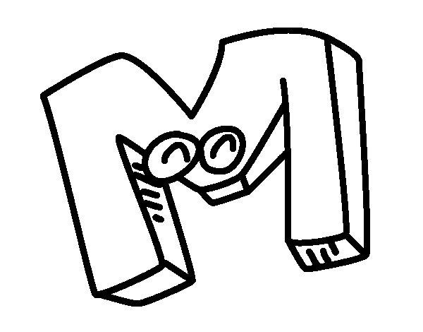 Dibujo de Letra M para Colorear