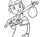 Dibujo de Leyenda goku para colorear