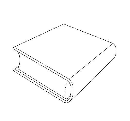 Dibujo de Libro para Colorear