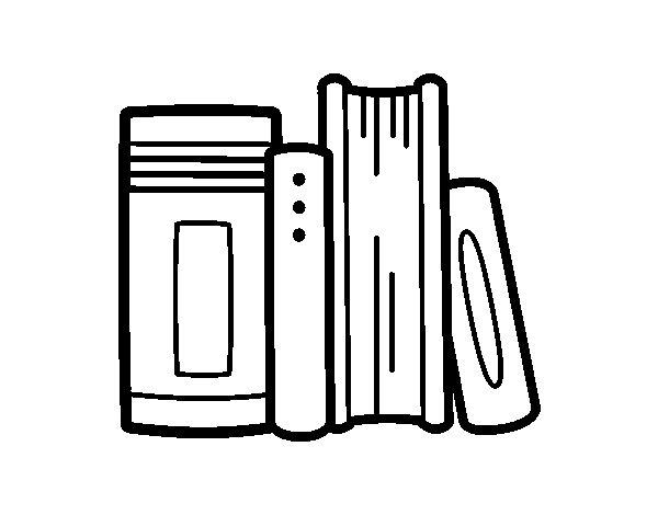 Español Dibujo Para Colorear: Dibujo De Libros De Colegio Para Colorear