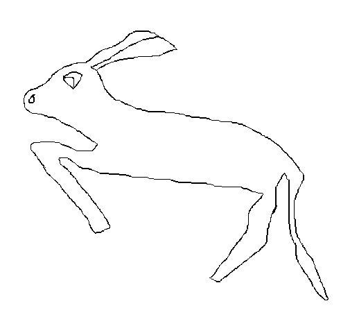 Dibujo de liebre 3 para colorear for Lepre disegno da colorare