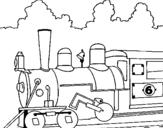 Dibujo de Locomotora para colorear