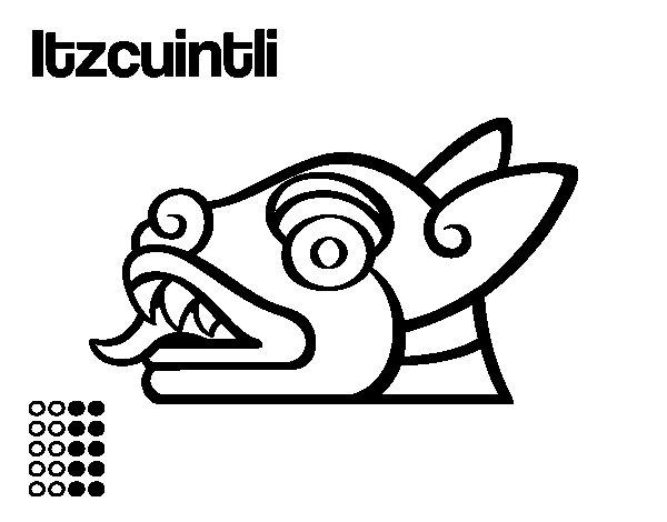 Dibujo de Los días aztecas: el perro Itzcuintli para Colorear