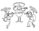 Dibujo de Los Mariachis para colorear