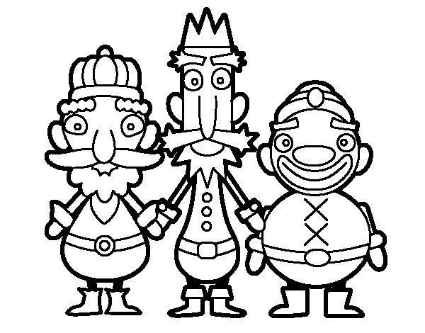Dibujos Para Colorear De Los Tres Reyes Magos: Dibujo De Los Reyes Magos De Oriente Para Colorear