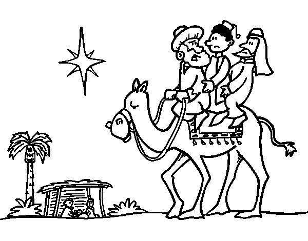 Dibujos Para Colorear De Los Tres Reyes Magos