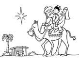 Dibujo de Los tres Reyes Magos para colorear