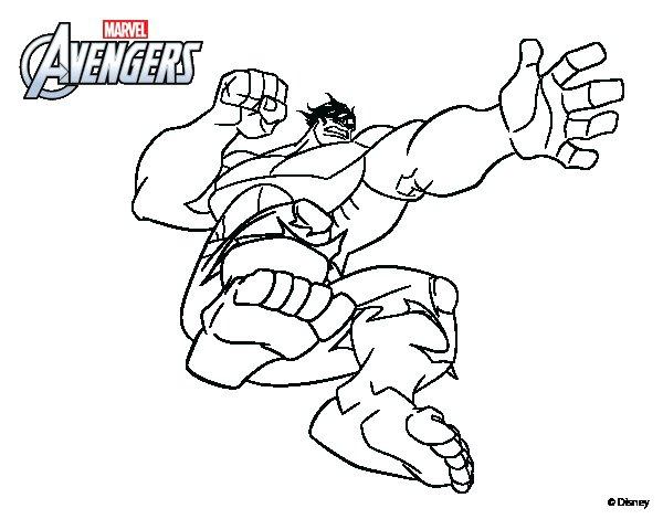 Dibujo de Los Vengadores - Hulk para Colorear - Dibujos.net
