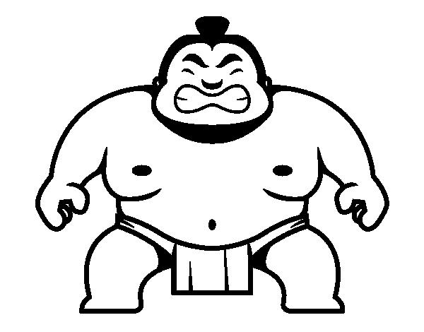 Dibujo de Luchador japonés para Colorear - Dibujos.net