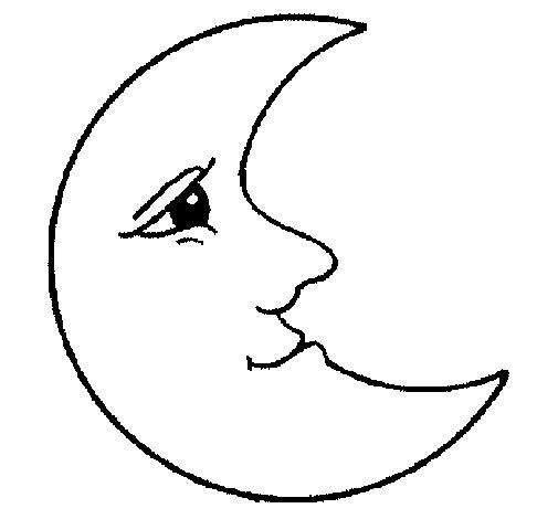 Dibujo de Luna 1 para Colorear