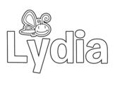 Dibujo de Lydia para colorear