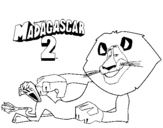 Dibujo de Madagascar 2 Alex 3