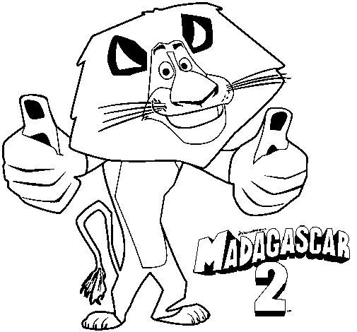 Dibujo de Madagascar 2 Alex para Colorear