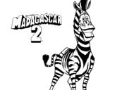 Dibujo de Madagascar 2 Marty 2