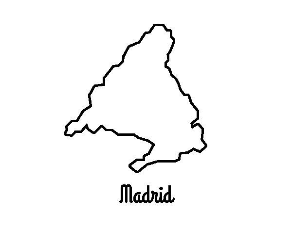 Dibujo de Madrid para Colorear