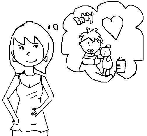 Dibujo de Mama para Colorear