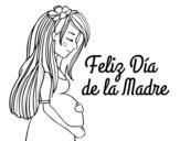 Dibujo de Mamá embarazada en el día de la madre