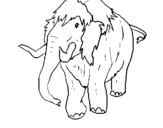 Dibujo de Mamut II para colorear