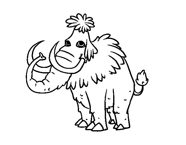 Dibujo de Mamut prehistórico para Colorear