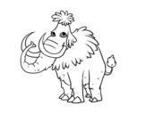 Dibujo de Mamut prehistórico