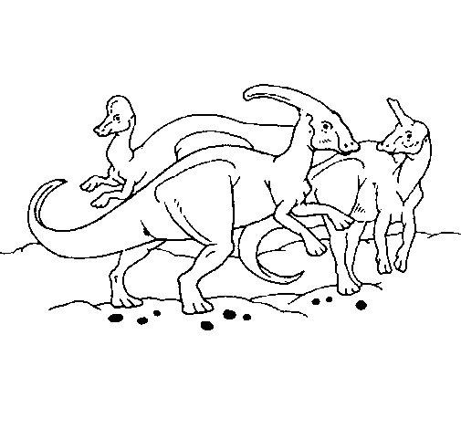 Dibujo de Manada de hervíboros para Colorear