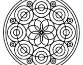 Dibujo de Mandala 35 para colorear