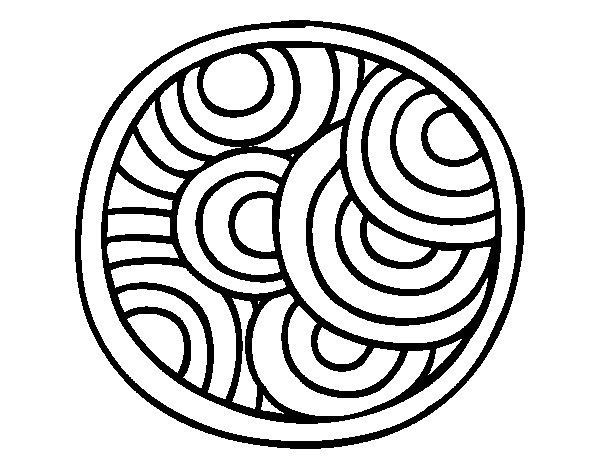 Dibujo de Mandala circular para Colorear
