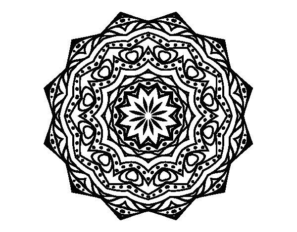 M Ndalas Para Colorear Dibujos Mandalas Para Imprimir Con: Dibujo De Mandala Con Estratos Para Colorear