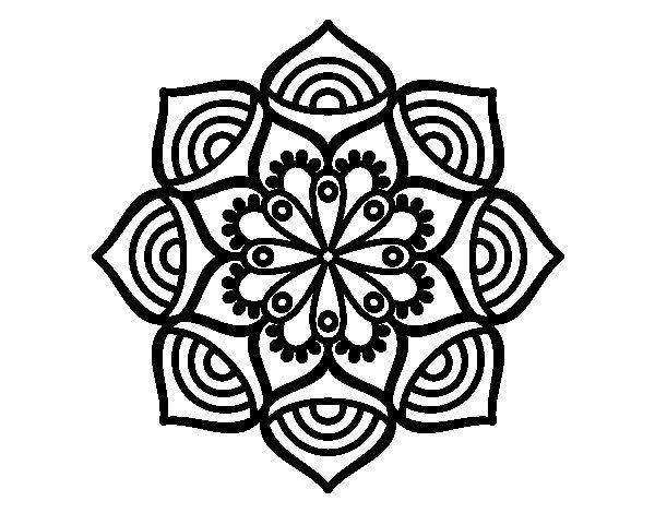 Mandalas De Perros Debuda Net Con Dibujos Para Colorear De: Dibujo De Mandala Crecimiento Exponencial Para Colorear