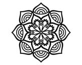 Dibujo de Mandala crecimiento exponencial para colorear