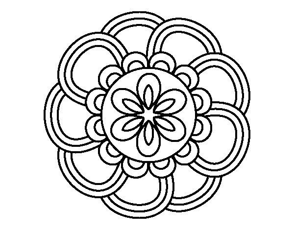 Dibujo de Mandala de pétalos para Colorear - Dibujos.net