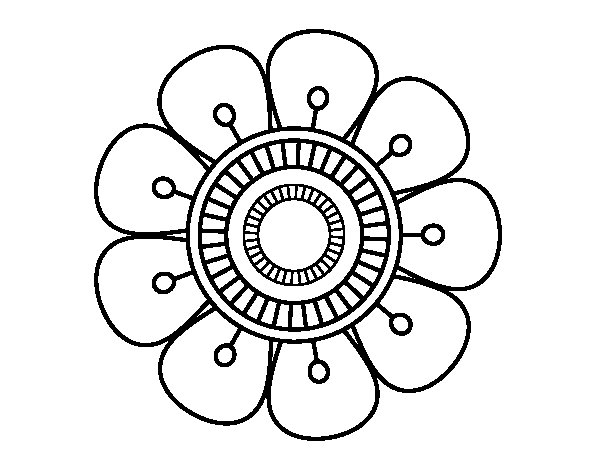 Dibujos De Flores Para Colorear Pintar E Imprimir Flores 6: Flor DE 10 PETALOS Colorear E Imprimir