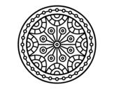 Dibujo de Mandala equilibrio mental para colorear