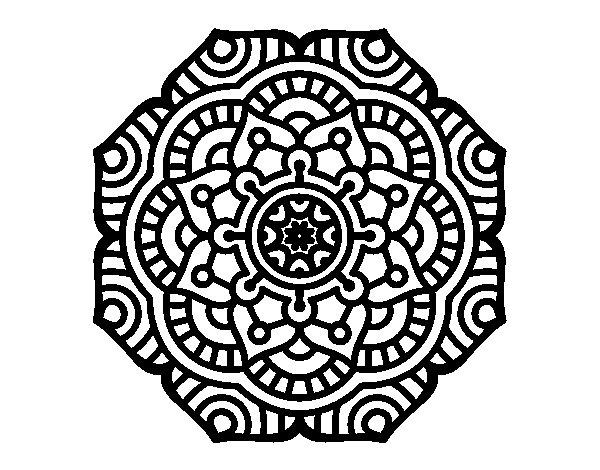 Dibujo de Mandala flor conceptual para Colorear