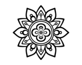 Dibujo de Mandala flor de loto para colorear