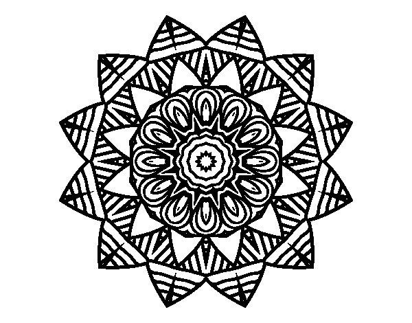 Imagenes Mandala Para Colorear 83: Dibujo De Mandala Frutal Para Colorear