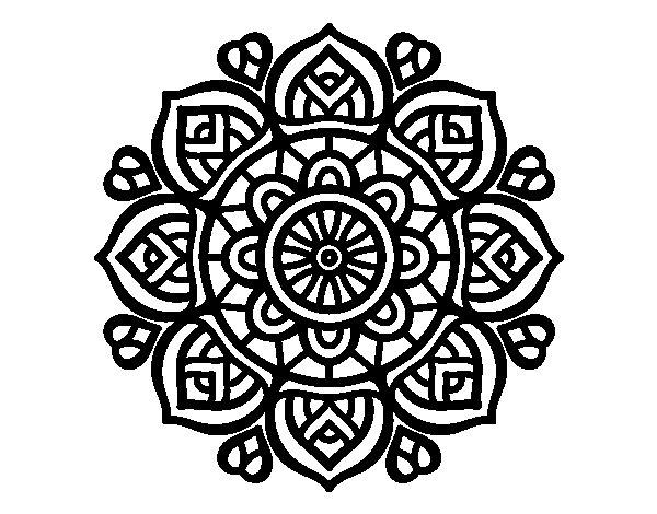 Colorear Mandalas Mandalas Dibujos Para Colorear Mandalas: Dibujo De Mandala Para La Concentración Mental Para