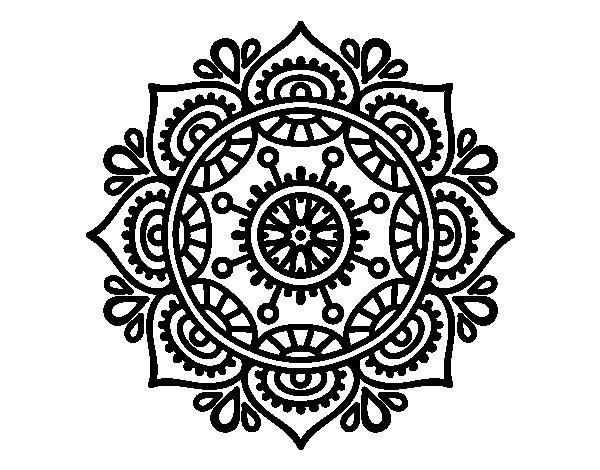 Colorear Mandalas Mandalas Dibujos Para Colorear Mandalas: Dibujo De Mandala Para Relajarse Para Colorear