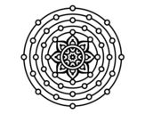 Dibujo de Mandala sistema solar para colorear