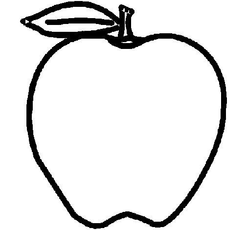 Dibujo de Manzana para Colorear