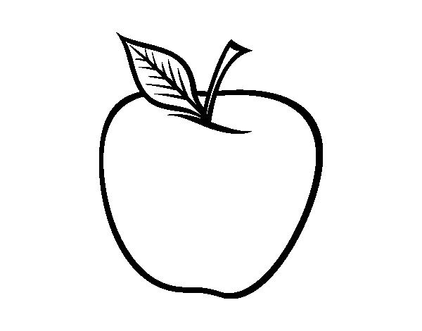 Dibujo de Manzana grande para Colorear - Dibujos.net