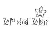 Dibujo de Maria del mar para colorear