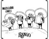 Dibujo de Mariachi Owls para colorear