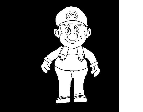 Dibujo de Mario para Colorear